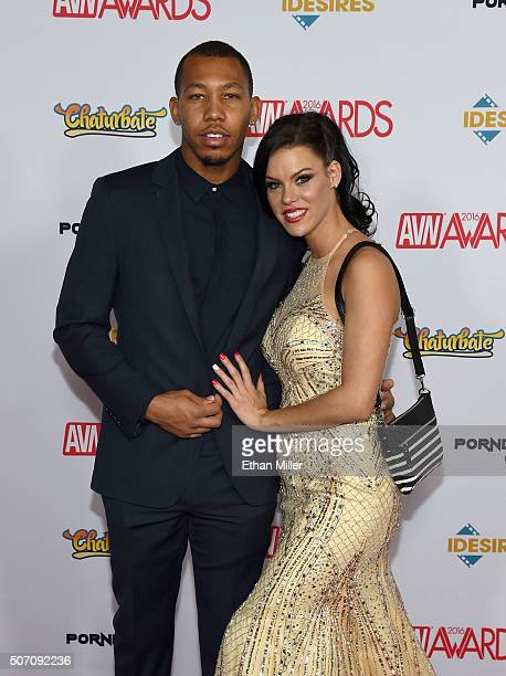 Adult fim actor Ricky Johnson and adult film actress Peta Jensen attend the 2016 Adult Video News Awards at the Hard Rock Hotel Casino on January 23...