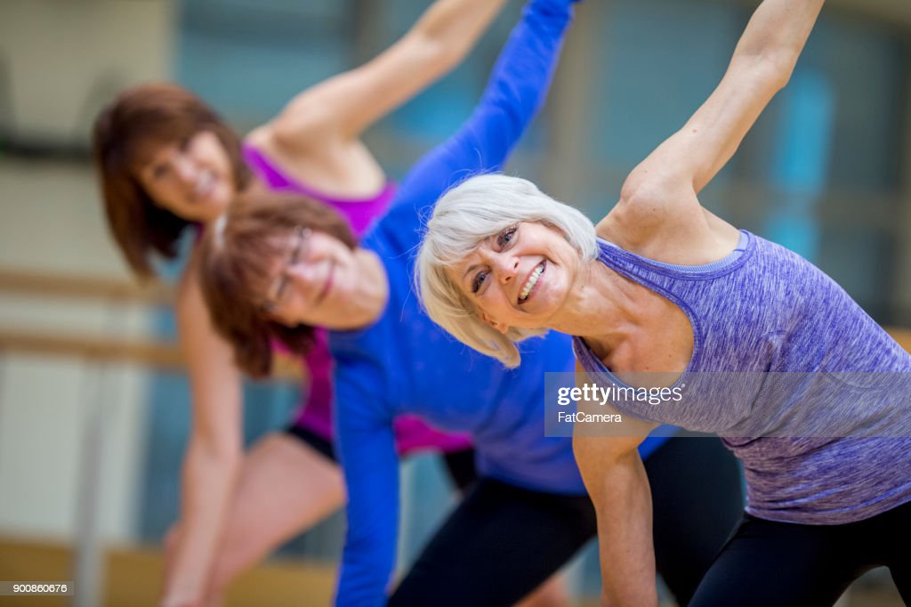 Adult Fitness Class : Stock Photo