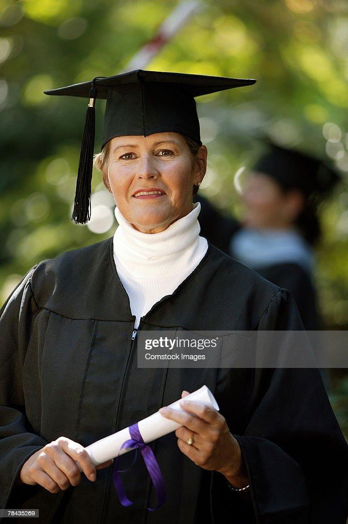 Adult graduate : Foto de stock