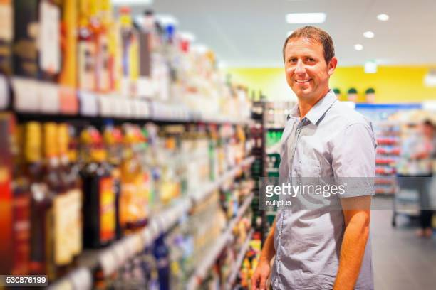 adult man at the supermarket