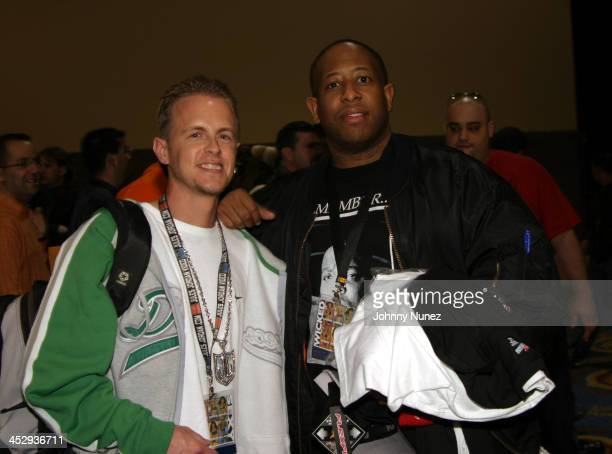 Adult Movie Producer Jules Jordan and DJ Premier during 2005 AVN Adult Entertainment Expo at Sand Expo Center in Las Vegas Nevada United States