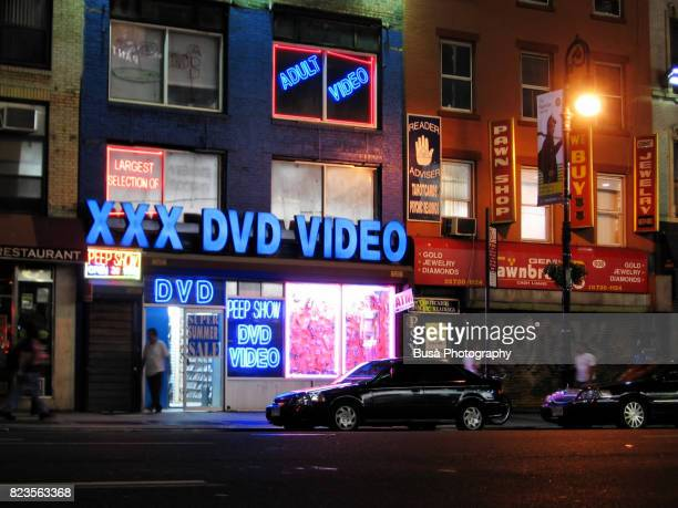 Adult sex shop in Hell's Kitchen, Midtown Manhattan, New York City