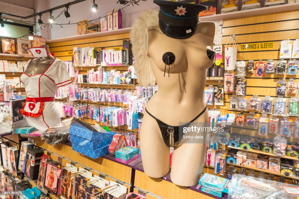 Adult shop and products : Stock Photo
