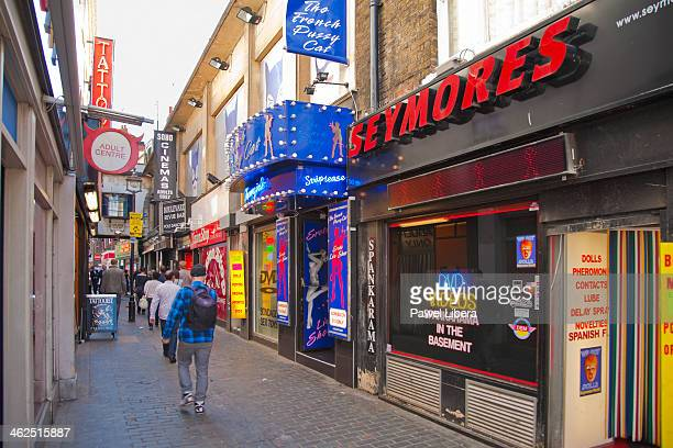 Adult Shops in Soho London's Red District