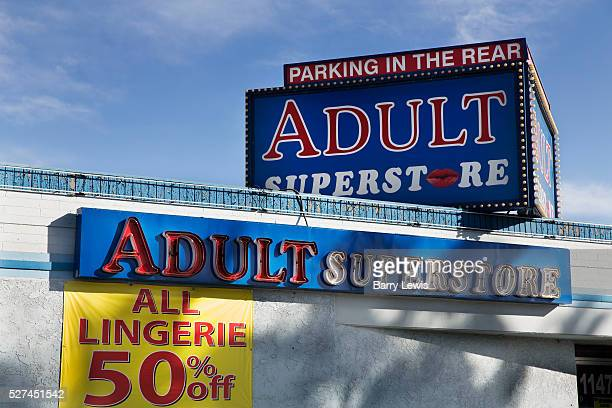 Adult store with 'parking in the rear' downtown Las Vegas These type of stores are all over the city catering for the sex industry from hookers to...