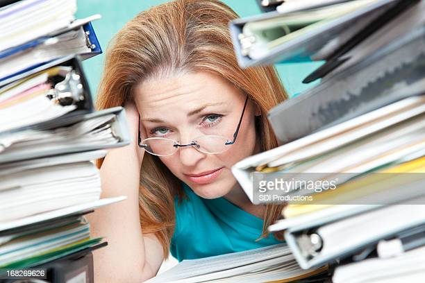 Adult Student or Teacher Frustrated With Work To Do