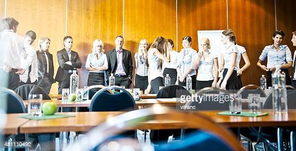 Adult students on seminar