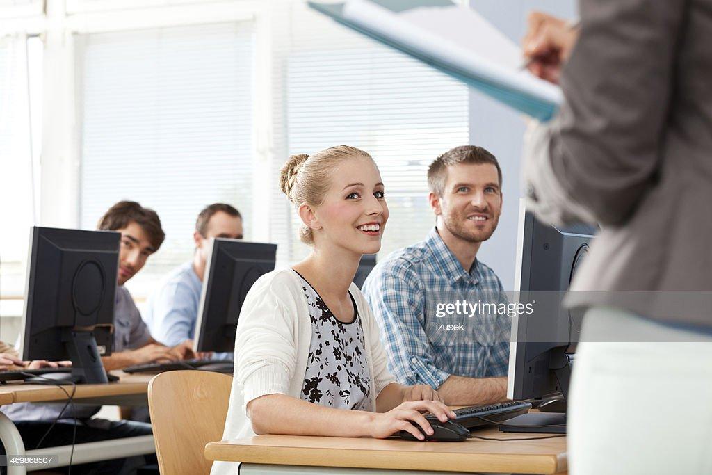 Adult students : Stock Photo