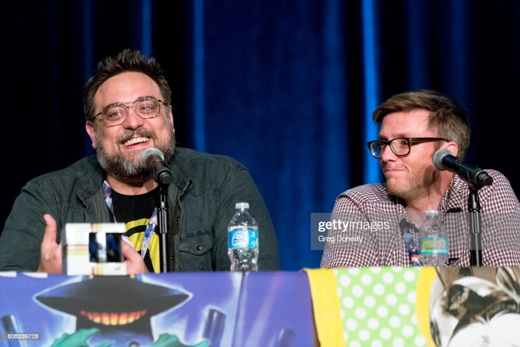 Adult Swim's Jason Demarco and Gail Austin attend the FLCL3 Panel discussion at the Anime Expo 2017 at Los Angeles Convention Center on July 2, 2017 in Los Angeles, California.