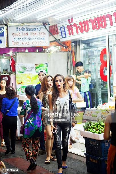 adult thai ladyboys and transgenders - ladyboys of bangkok stock photos and pictures