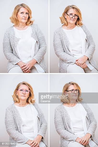 Adult Woman Composite with Confident Facial Expression