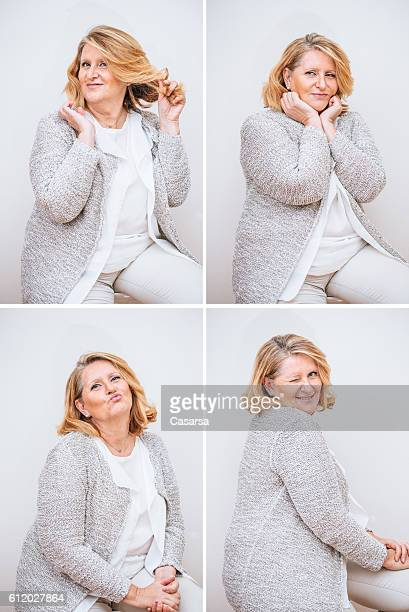 Adult Woman Composite with Seductive Facial Expression