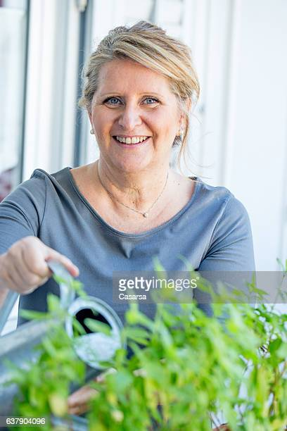 Adult Woman portrait on her Balcony