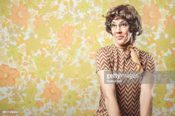 Adult Woman Retro Seventies Style