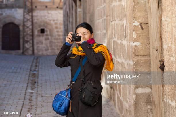 Adult Woman Wearing Traditional Headscarf In Mardin, Turkey