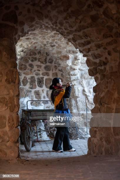 Adult Woman Wearing Traditional Scarf In Mardin, Turkey