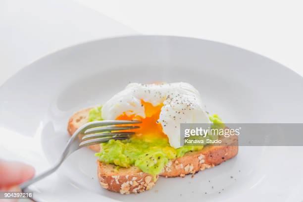 Adult women eating healthy breakfast