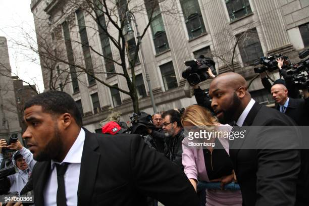Adultfilm actress Stormy Daniels arrives at Federal Court in New York US on Monday April 16 2018 Daniels claims she had sex with Donald Trump in 2006...