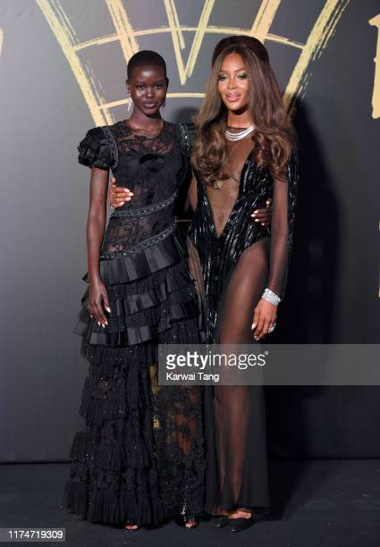 Adut Akech and Naomi Campbell attend Fashion For Relief London 2019 at The British Museum on September 14 2019 in London England