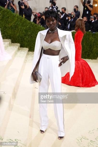 Adut Akech attends 2021 Costume Institute Benefit - In America: A Lexicon of Fashion at the Metropolitan Museum of Art on September 13, 2021 in New...