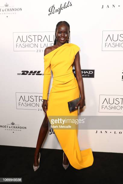 Adut Akech attends the 2018 Australian Fashion Laureate Awards on November 20 2018 in Sydney Australia