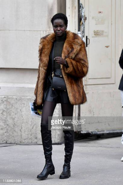 Adut Akech attends the Chanel show as part of the Paris Fashion Week Womenswear Fall/Winter 2019/2020 on March 05 2019 in Paris France