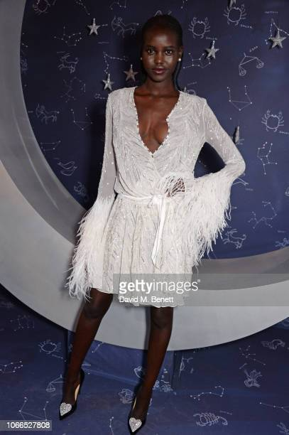 Adut Akech attends the Claridge's Zodiac Party hosted by Diane von Furstenberg Edward Enninful to celebrate the Claridge's Christmas Tree 2018 'The...