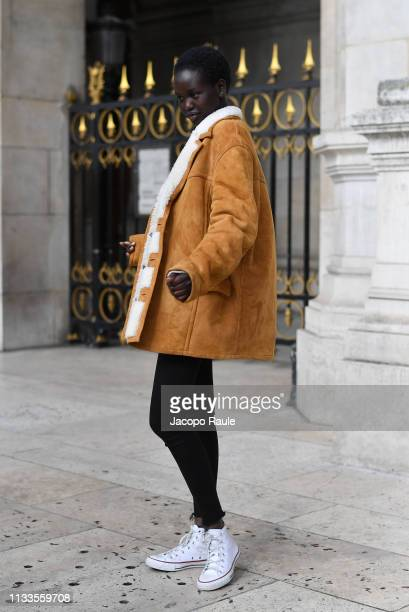 Adut Akech attends the Stella McCartney show as part of the Paris Fashion Week Womenswear Fall/Winter 2019/2020 on March 04 2019 in Paris France
