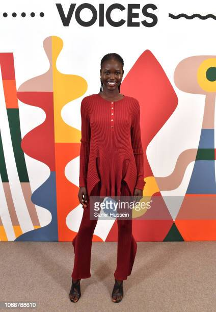 Adut Akech backstage during #BoFVOICES on November 29 2018 in Oxfordshire England