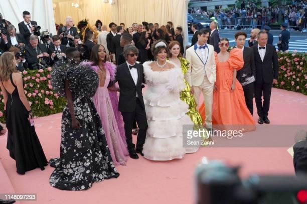 Adut Akech Naomi Campbell Pier Paolo Piccioli Joan Collins Julianne Moore Mark Ronson and Lykke Li attend The Metropolitan Museum Of Art's 2019...