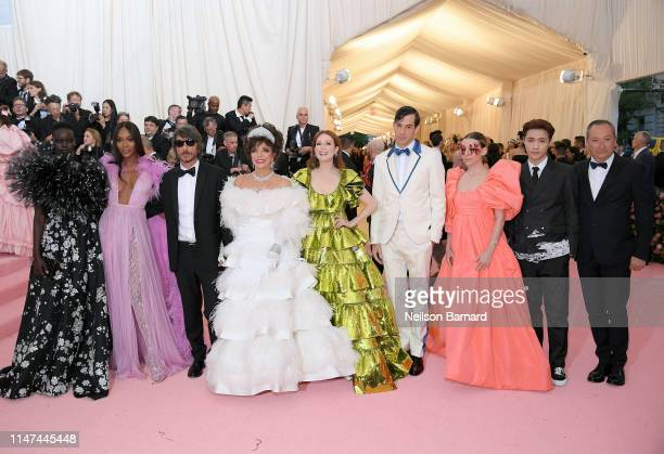 Adut Akech Naomi Campbell Pierpaolo Piccioli Joan Collins Julianne Moore Mark Ronson Lykke Li Lay Zhang and Stefano Sassi attend The 2019 Met Gala...
