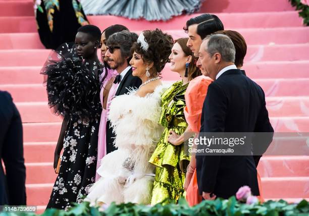 Adut Akech, Naomi Campbell, Pierpaolo Piccioli, Joan Collins, Julianne Moore, Mark Ronson, Lykke Li, Lay Zhang and Stefano Sassi are seen arriving to...