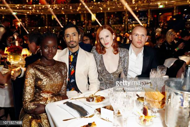 Adut Akech Riz Ahmed Karen Elson and Alec Maxwell attend The Fashion Awards 2018 In Partnership With Swarovski at Royal Albert Hall on December 10...