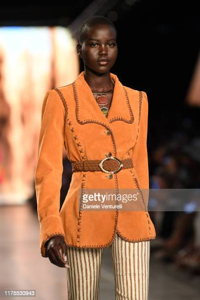 Adut Akech walks the runway at the Alberta Ferretti show during the Milan Fashion Week Spring/Summer 2020 on September 18 2019 in Milan Italy