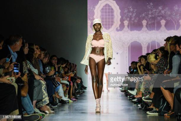 Adut Akech walks the runway at the Anna Sui SS 20 Fashion Show on September 9 2019 in New York City