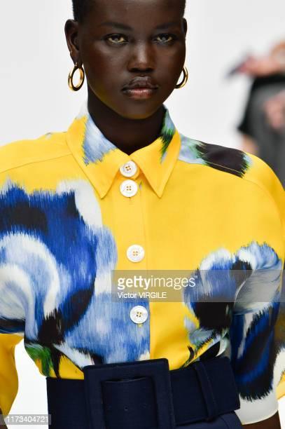 Adut Akech walks the runway at the Carolina Herrera Ready to Wear Spring/Summer 2020 fashion show during New York Fashion Week on September 09 2019...