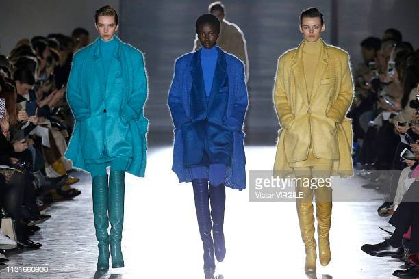 Adut Akech walks the runway at the Max Mara Ready to Wear Fall/Winter 20192020 fashion show at Milan Fashion Week Autumn/Winter 2019/20 on February...