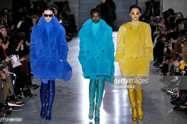 Adut Akech walks the runway at the Max Mara Ready to Wear Fall/Winter 20192020 fashion show at Milan Fashion Week Autumn/Winter 2019/20 on February...