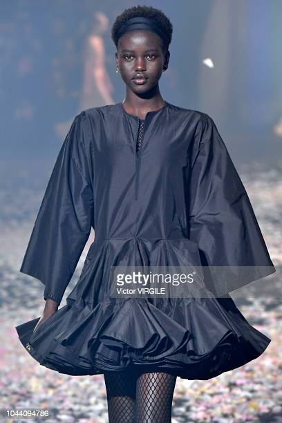 Adut Akech walks the runway during the Christian Dior Ready to Wear fashio show as part of the Paris Fashion Week Womenswear Spring/Summer 2019 on...