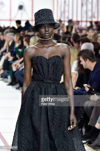 Adut Akech walks the runway during the Christian Dior show as part of the Paris Fashion Week Womenswear Fall/Winter 2019/2020 on February 26 2019 in...