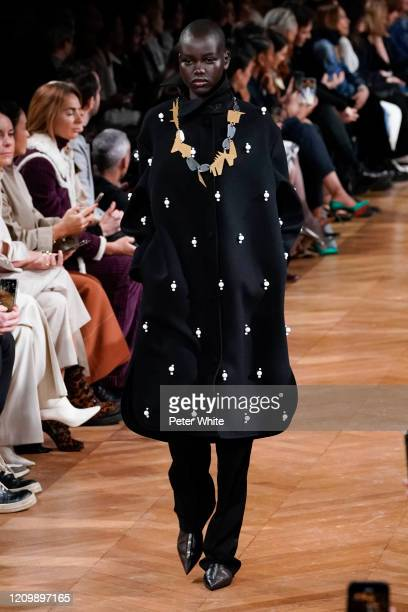 Adut Akech walks the runway during the Stella McCartney as part of the Paris Fashion Week Womenswear Fall/Winter 2020/2021 on March 02, 2020 in...