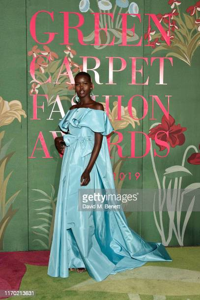Adut Akech wearing Valentino attends The Green Carpet Fashion Awards, Italia 2019, hosted by CNMI & Eco-Age, at Teatro Alla Scala on September 22,...