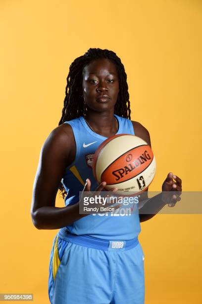 Adut Bulgak of the Chicago Sky poses for portrait during WNBA Media Day 2018 on May 9 2018 at the Sachs Recreation Center in Chicago Illinois NOTE TO...