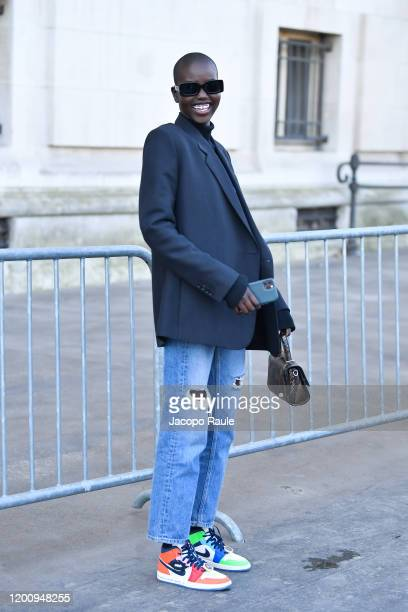 Aduth Akech attends the Chanel Haute Couture Spring/Summer 2020 show as part of Paris Fashion Week on January 21, 2020 in Paris, France.