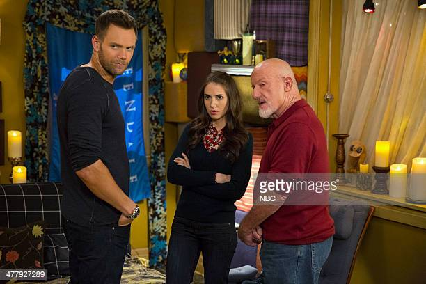 COMMUNITY Advanced Advanced Dungeons Dragons Episode 510 Pictured Joel McHale as Jeff Alison Brie as Annie Jonathan Banks as Professor Buzz Hickey