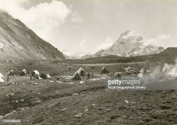 Advanced base camp looking east Tibet China Mount Everest Expedition 1921