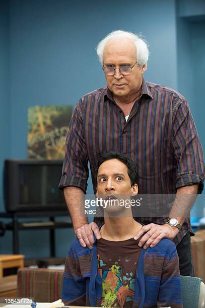 COMMUNITY Advanced Dungeons and Dragons Episode 13 Pictured Danny Pudi as Abed Nadir Chevy Chase as Pierce Hawthorne
