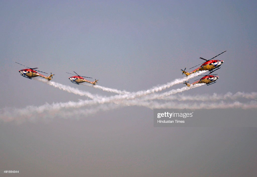 Full Dress Rehearsal Of Air Force Day Function At Hindon Air Force Station : News Photo