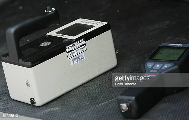 Advanced radiological and biological detection equipment is shown on August 27 2004 in Jersey City New Jersey The Port Authority of New York and New...