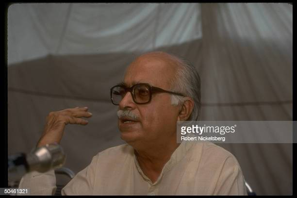 Advani, Pres. Of conservative Hindu-based Bharatiya Janata Party, aka Indian People's Party.